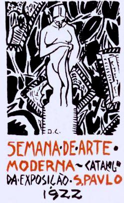 Cartaz de di cavalcanti para a semana de arte moderna de 1922 em s 227 o